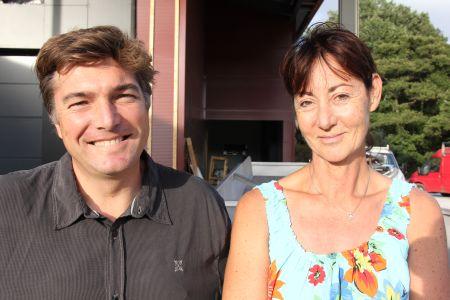 Isabelle Courrèges et Rodolphe Camerlo, Domaine de Pratavone. Photo Agnieszka Kumor