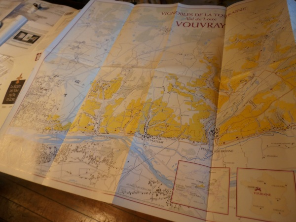 La carte de l'appellation montre les liens étroits avec l'agglomération de Tours. Photo©MichelSmith