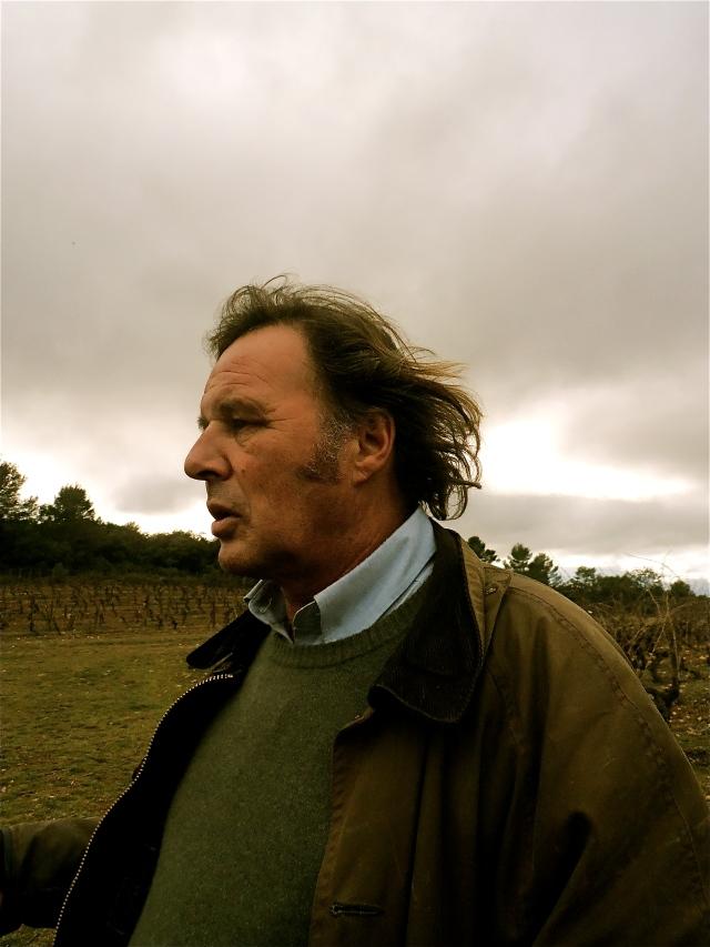 Peter Fischer, un vigneron toujours dans le vent. Photo©MichelSmith