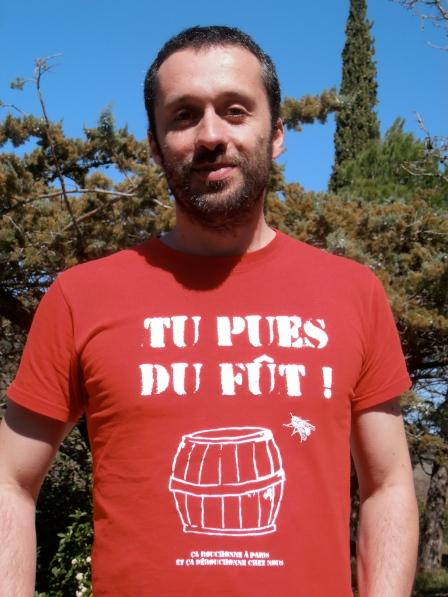 Rémy Bousquet, auteur de T-shirts et de slogans. Photo©MichelSmith