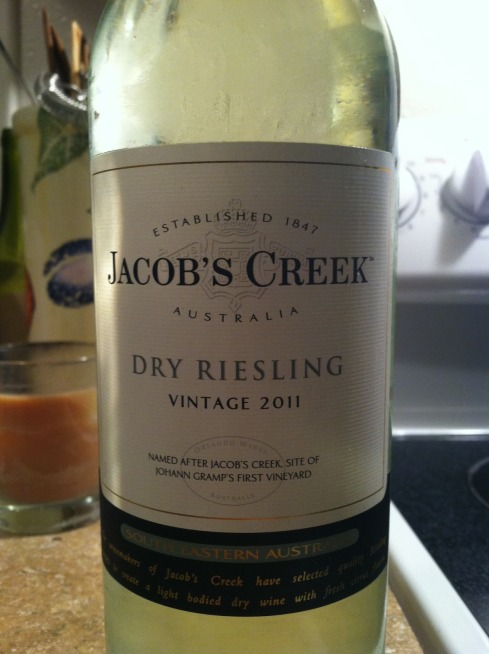 2011 jacobs creek riesling