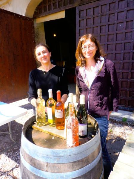 Christine Chazalet et Marie Meynadier, oenologues et vigneronnes. Photo©MichelSmith