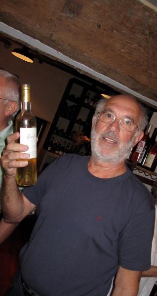 Bernrd Sapéras avec son Ranfio Fino... Photo©MichelSmith