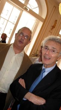 Michel Bettane et Georges Duboeuf… Dans ce métier tout le monde se connaît. Photo©MichelSmith