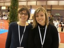 Stéphanie Caslot, à gauche, et sa blonde assistante du Domaine de La Chevalerie à Restigné. Photo@MichelSmith
