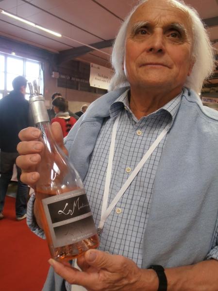 Michel Louison en poète du rosé. Photo@MichelSmith