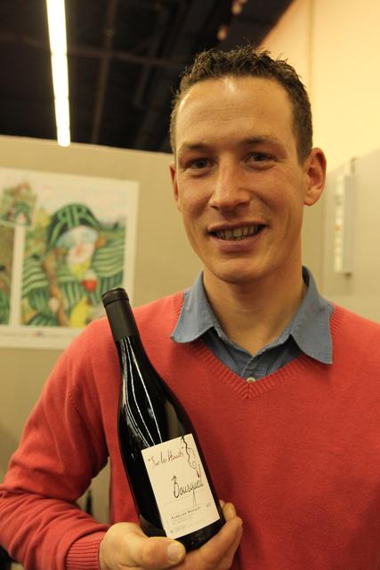 Aurélien Revillot with his 2012 Sur les Hauts