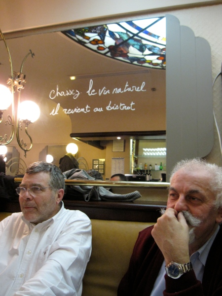Jean L'Hériritier et Marc Parcé, chevilles ouvrières du Rancio sec auprès de Slow Food. Photo©MichelSmith