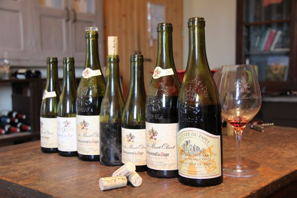 1. La gamme dégustée au Clos du Mont-Olivet. Photo Agnieszka Kumor