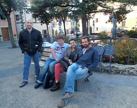 La bande : Clément, Bruno, Amandine et Tim... Photo©MichelSmith