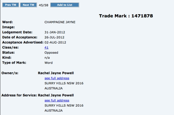 C-Jayne trademark
