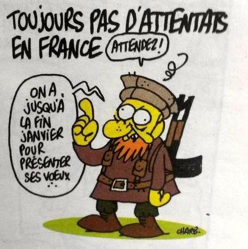 Prémonitoire, le dernier dessin de Charb, directeur de Charlie.