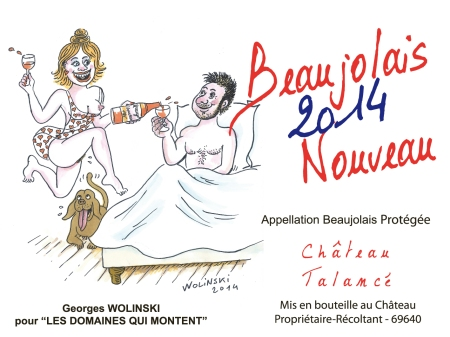 Etiquette BJN wolinski BT 75cl 2014