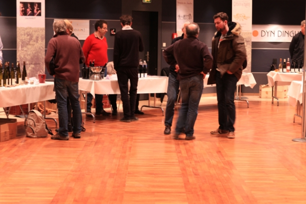 Demeter at the Palais de Congrès. The biodynamic producers easily outnumbered the visitors on Saturday afternoon.