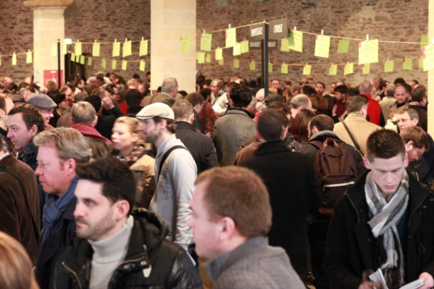 The crowds at the Renaissance tasting