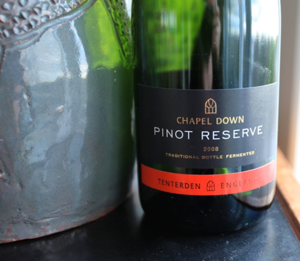 The much appreciated English sparkling wine – 2008 Pinot from Chapel Down that we chose to celebrate our Father's life on Friday in preference to Champagne.