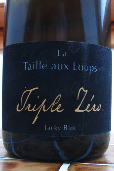 Triple Zéro – one of my favourite Loire sparklers