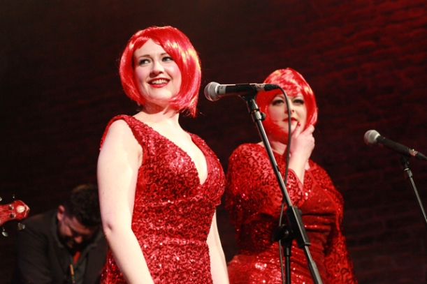 Backing vocals from The Red Sisters