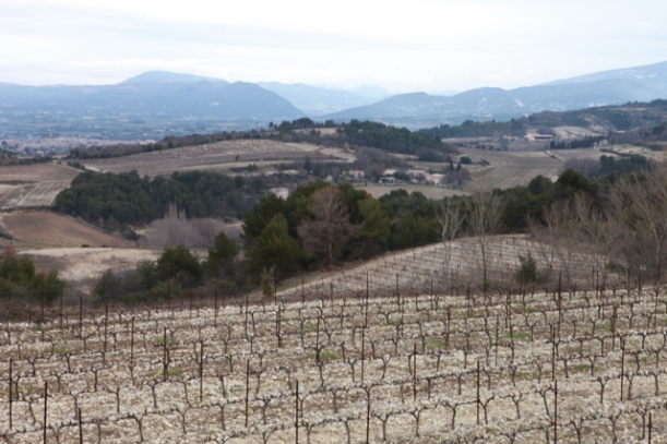 The view from the ridge by the Mas de Sainte Croix