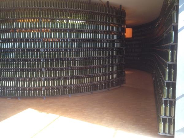 mur de bouteilles
