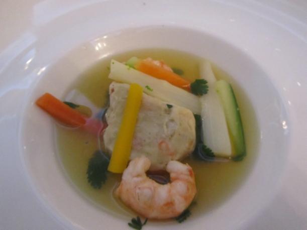 Delicate entrée featuring langoustine