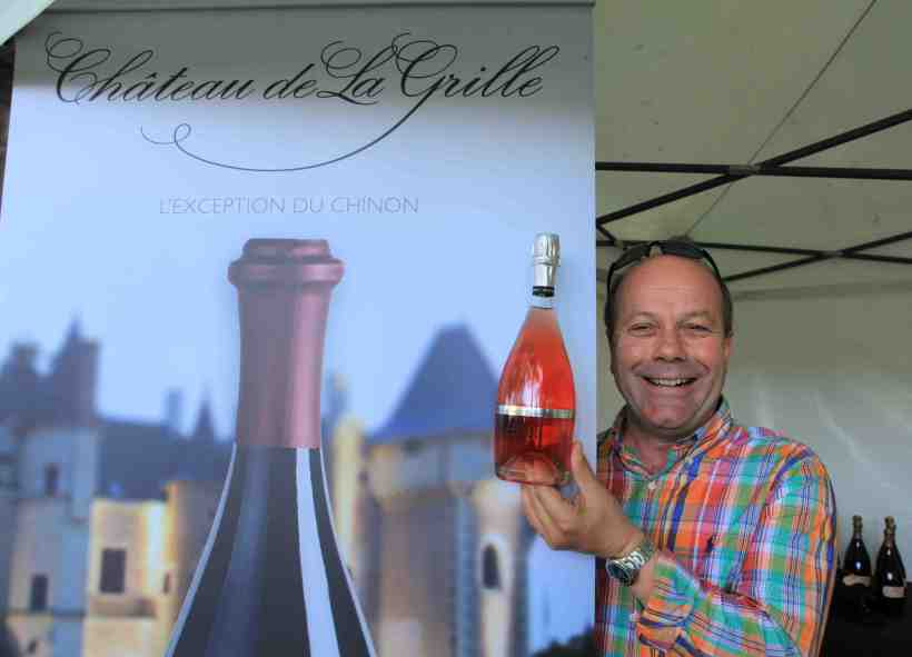 Christophe Baudry (Baudry-Dutour) showing off their new sparkling rosé @2014 edition.