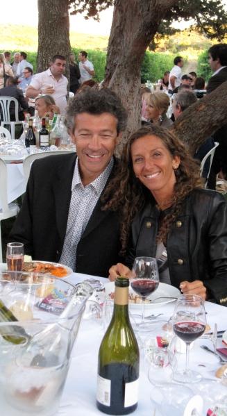 Avec son épouse et coach, Ingrid. Photo©MichelSmith
