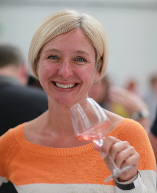 Amy Lillard, La Gramière, Southern Rhône: demonstrating how relaxed and stress-free growing grapes and making wines is