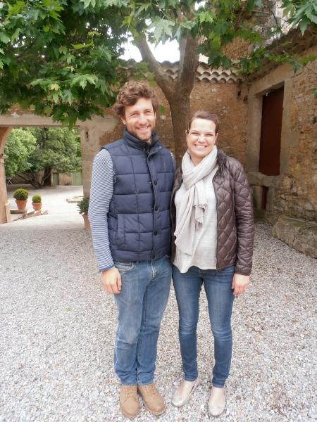 Charlotte et Clément de Béarn au Château de Jonquières. Photo©MichelSmith