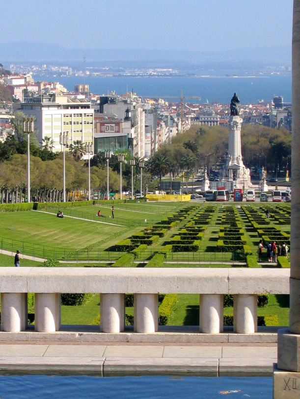Central Lisbon from Edward VII's Park