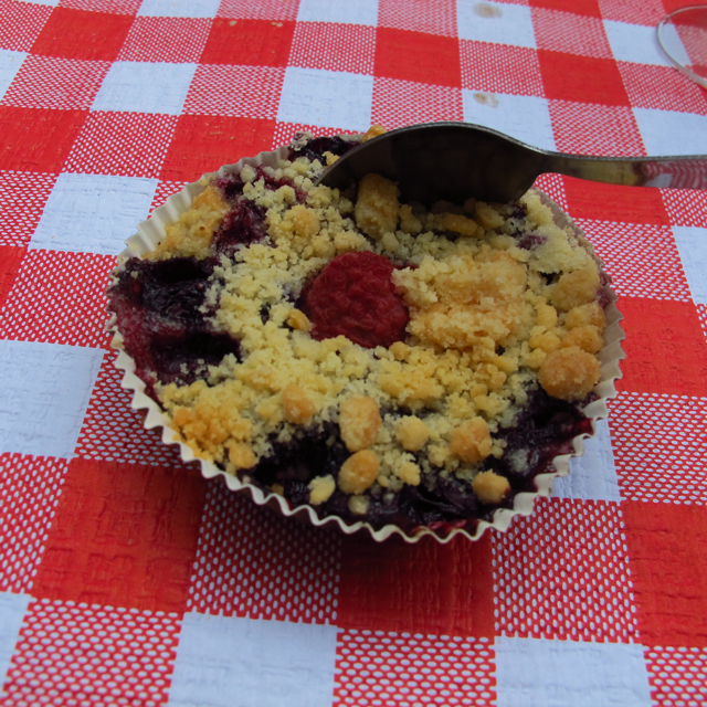 Red fruits crumble