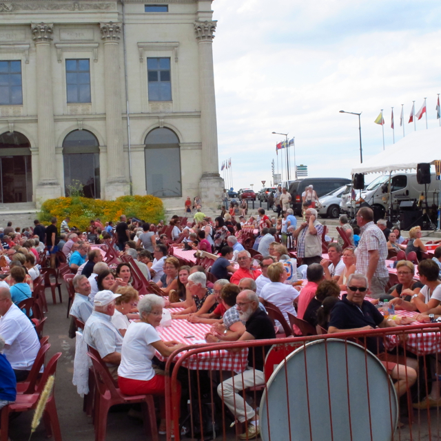 Just about a third of those at Les Grandes Tablées on Wednesday night (5th August)