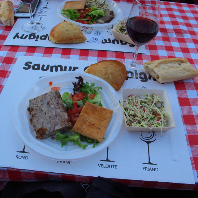 Part of the picnic with the 'interpretation' of a pork pie.