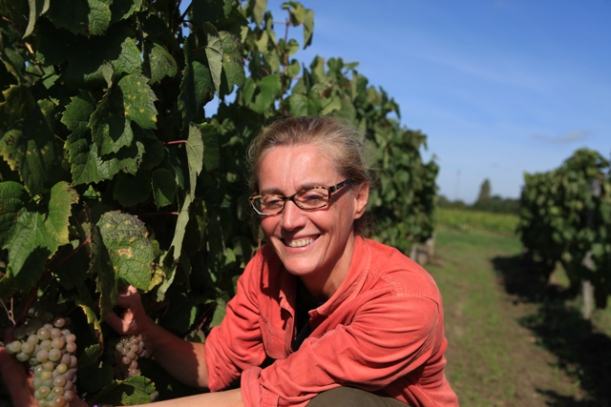 Laura Semeria and her Romarantin – ready to pick later this week.