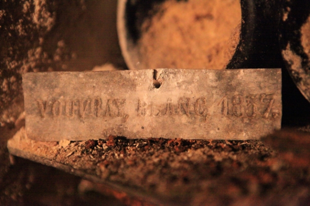 Metal tag: Vouvray 1857