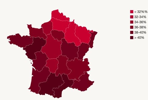 vin région f