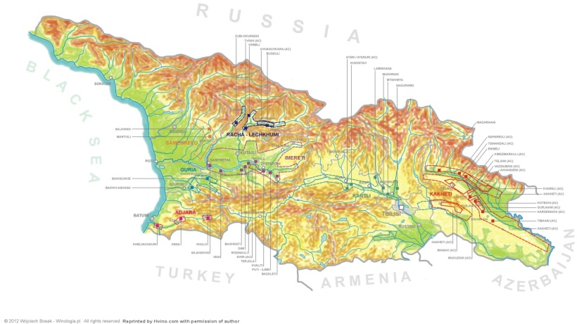 Georgian Wine Map 1
