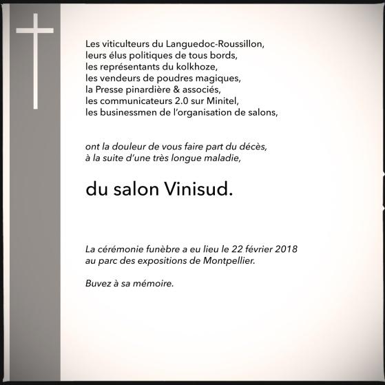 Faire-part décès Vinisud