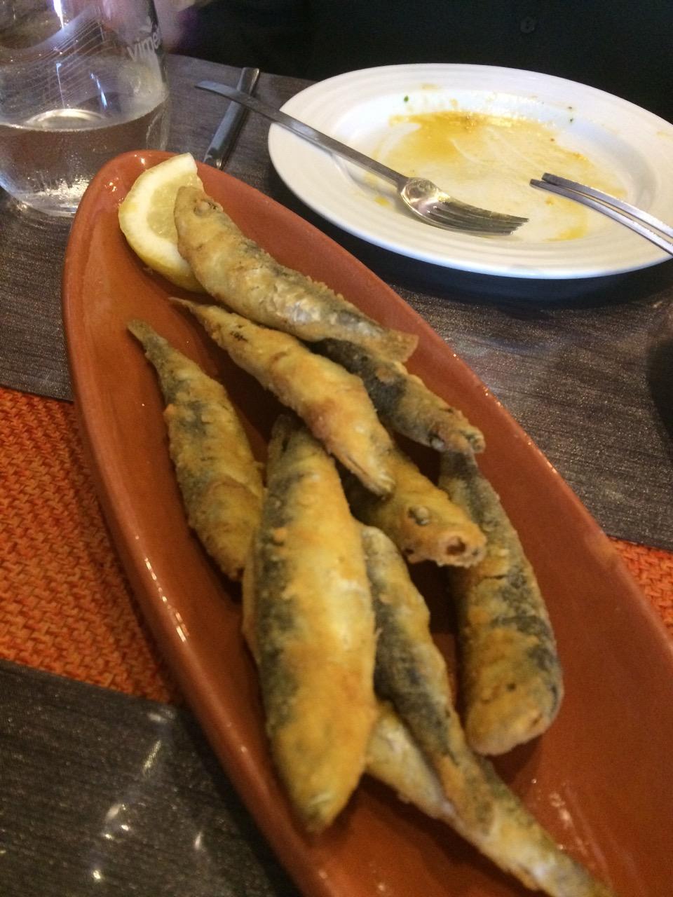 Small sardines