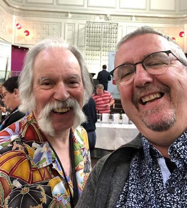 Jim with president Gautier