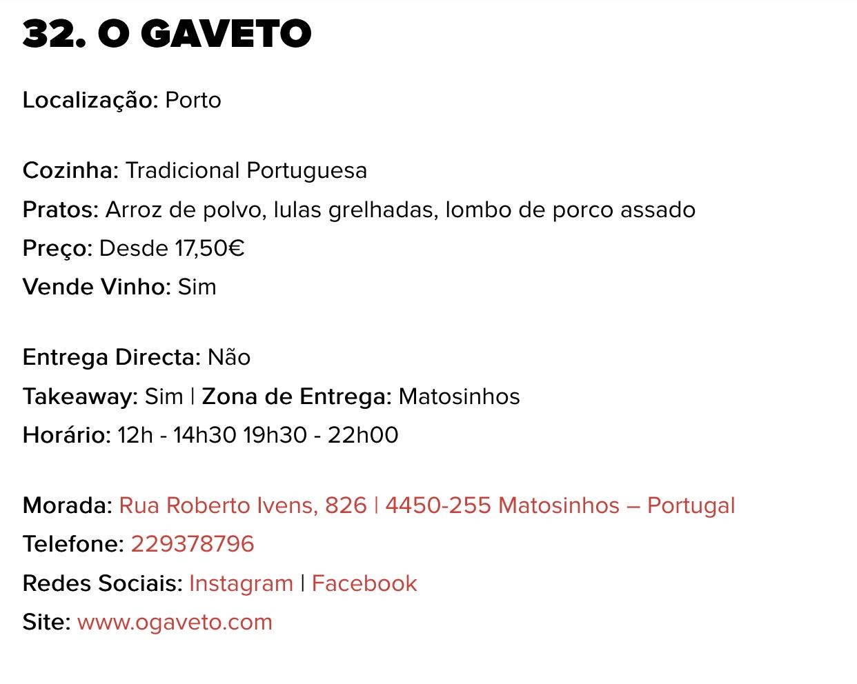 O Gaveto - details